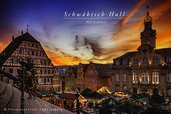 Schwäbisch Hall (Fotomanufaktur.lb) Tags: salzsieder salz abend marktplatz michelkirche rathaus weihnachtsmarkt schölkopf schoelkopf hohenlohe kocher siederstadt
