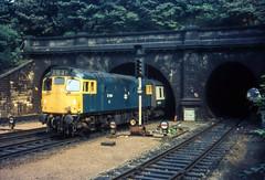 27204 at Princes Gardens, Edinburgh (robmcrorie) Tags: class 27 27204 edinburgh waverley princes gardens glasgow queen street station british railways 1970s 1975