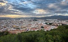 Málaga Sunset Lands (henriksundholm.com) Tags: landscape sunset clouds sky city cityscape urban skyline horizon nature trees mountains hdr malaga andalucia spain espana andalusia gibralfaro