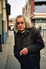 Mimba (michel nguie) Tags: troisquartencuir learher cigarette analog portrait cheveuxgris man smoke vertical rbx roubaix film michelnguie