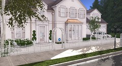 (mooddecor) Tags: suburb suburban onsu sl second life land landscaping sim homestead hm haru motors porsche white clean sleek oak tree nature neighbor neighborhood home house garden