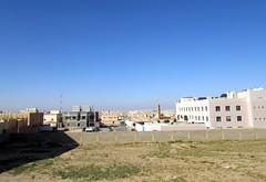 Urban Blue Desert Sky (earthdrifting) Tags: desert urban hafr saudi arabia architecture field wall sky distance city