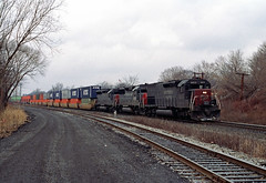 All EMD...All SP on TV-556 (Erie Limited) Tags: conrail tv556 sp southernpacific emd sd45t2 tunnelmotor ridgefieldparknj riverline train railfan railroad