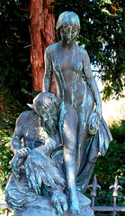 Devil with young girl (Phil*ippe) Tags: statue woman erotic naked young devil sensual