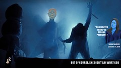 GOD WANTED TRUMP TO BECOME PRESIDENT (The Devils in the Details) Tags: donaldtrump asshole mikepence theexorcist possession lindablair captainhowdy god jesuschrist pazuzu kingofdemons witchcraft sarahsanders kellyanneconway wickedwitchofthewest mitchmcconnell vladimirputin alternativefacts gop republican russiantroll bully kukluxklan whitesupremacist swastika whitehood makeamericagreatagainhat racist racism bigot sexist nazi stumpjumper pedophile grabembythepussy tinfoilhatsociety melaniatrump brettkavanaugh supremecourt christianterrorist pussygrabber donaldtrumpjr ivankatrump erictrump jaredkushner foxnews fakenews rape liarliarpantsonfire nastywoman badhombre mexicanwall sexdrugsandrockandroll metoo religion dumptrump robertmueller terrorist taliban jihad marriageequality gay lgbt discrimination hate equalrights freedomfromreligion separationofchurchandstate isis