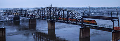 Another Delivery (KC Mike Day) Tags: train bridge bnsf railroad tracks winter snow river missouri cold