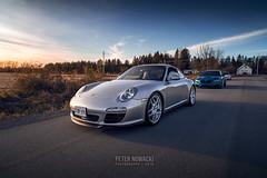 Porsche 911 Carrera   997.2   Platinum Silver (Peter Nowacki) Tags: samyang samyanglens 20mm 20mmf18 samyang20mm wideangle porsche 911 porsche911 997 carrera 911carrera porschecarrera 9972 bc racing coilovers platinum silver 991 lip