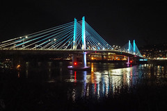 Tilicum Bridge by Night (Eclectic Jack) Tags: portland oregon bridge willamette river tilicum