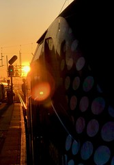 Groovy Train (sjpowermac) Tags: groovytrain sunset flare 68006 valiant 2g13 haymarket traincrew rightaway class68 scotrail
