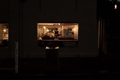 Finding Some (Leon Sammartino) Tags: night morning cafe coffee north melbourne australia common ground workers fujifilm xmount
