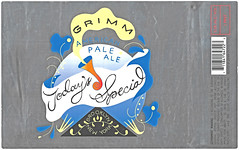 TODAY'S SPECIAL by Greta Johnson for Grimm Artisanal Ales (Label_Craft) Tags: beer beers craftbeer brew suds ale hops labels craft labelcraft beerlabel design illustration type fonts burp beerme brewery grimm grimmbrewing grimmbrewery todaysspecial apa paleale brooklyn nyc drinklocal