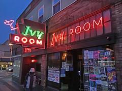 Ivy Room (skipmoore) Tags: albany ivyroom neon sign dusk