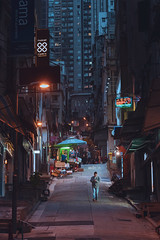 When night falls (mikemikecat) Tags: hong kong central 中環 one person buses neon sign signboard architecture city building exterior cityscape nightscape mikemikecat