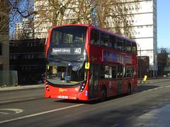 GAL EH125 - SN66WOX - CAMBERWELL ROAD - THUR 17TH JAN 2019 (Bexleybus) Tags: camberwell road se5 london goahead go ahead adl dennis enviro 400 mmc tfl route 40 eh125 sn66wox