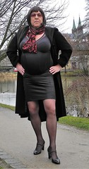 180201_20 (mathildecross) Tags: crossdress crossdressing crossdresser cd corsett pumps pantyhose bamberg outdoor transvestit tgurl