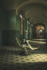 The Dentist's Chair (Some Place Only We Know) Tags: chair dentist old zahnarztstuhl forgotten abandoned urbex sanatorium corridor gang heilstätte alt zahnarzt