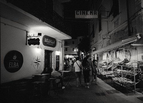 Elba Island - Porto Azzurro by night (Tri-X in RLS and Diafine)