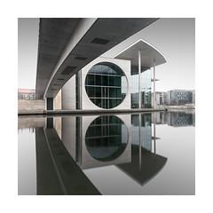 mel   berlin, 2017 (philippdase) Tags: berlin germany governmentdistrict architecture mutedcolors modern reflection philippdase pentaxk1 pentax fineart longexposure city cityscape water winter