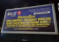 Let's Rock Essex  (The Retro Festival) (Stuart Axe) Tags: billboard essex letsrockessex sign chelmsford hylandspark cityofchelmsford writtle statusquo theretrofestival uk unitedkingdom gb greatbritain vfestival rizefestival rize jimmysomerville tonyhadley midgeure sonia nickheywood nikkershaw heaven17 chinacrisis blacklace bettyboo therealthing musicalyouth westworld gowest owenpaul england countytown city countyofessex 1980s 80s letsrock80s advertisement advert