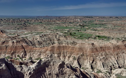A Spectacle of Badlands with Prairie Grass That Seemingly Extended to a Far Distant Horizon (Badlands National Park)