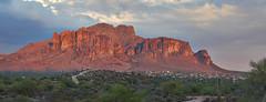 DSC00582_stitch (wNG555) Tags: 2014 arizona phoenix apachejunction apachetrail superstitionmountain sunset a6000 ilce6000 fav25 fav50