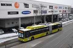 AtB / Trønderbilene - MAN Lion's City Articulated Bus (minolta100) Tags: atb bus buss trondheim leddbuss articulated gas gass cng trønderbilene man lions city stop bussholdeplass snow winter snø vinter kollektivtrafikk