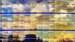Segmented Sunset Reflection (2n2907) Tags: segmented sunset reflection city building glass windows abstract color urban photo olympus omd mirrorless colorful