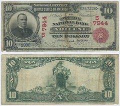 United States $10.00 (ten dollars) national currency (SMU Libraries Digital Collections) Tags: texas money national us united states currency paper banks notes note banknote banknotes chartered bank banking abilene taylor taylorcounty