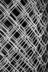 Impenetrable (belleshaw) Tags: blackandwhite orangeempirerailwaymuseum oerm fence chainlink rolled rust mesh obsession texture links detail abstract
