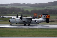 C2A 162144 (TF102A) Tags: aviation aircraft airplane prestwick prestwickairport usnavy c2 162144