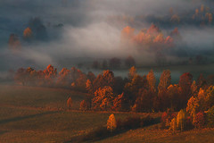 As Autumn Brings Crispness to the Air. (Bonnie And Clyde Creative Images) Tags: landscapes poland europe mountains mist autumn canon