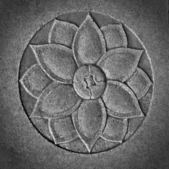 Lotus (dr_scholz@ymail.com) Tags: lotus stone symbol flower temple floor tile leicam240 summicron50mmf20