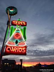 TePee Curios - Route 66 (LocalOzarkian Photography - Ozarks/ Route 66 Photo) Tags: tucumcaritonite tucumcarinewmexico newmexico tucumcari tucumcariroute66 curios tepeecurios newmexicoroute66 route66 motherroad neon sunset gettingmykicks gettingmykicksonroute66