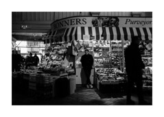 Bonners Fruit and Veg (realjv) Tags: 2019 bw xf23mmf2 blackandwhite bonners fruit fuji fujifilm monochrome oxford oxfordcoveredmarket streetphotography veg xpro2