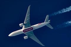 Emirates SkyCargo Boeing 777-F1H A6-EFE (Thames Air) Tags: emirates skycargo boeing 777f1h a6efe contrails contrailspotting