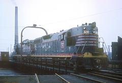 CB&Q SD9 328 (Chuck Zeiler48Q) Tags: cbq sd9 328 burlington railroad emd locomotive clyde train chuckzeiler chz turntable