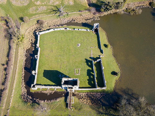 Baconsthorpe Castle from Above
