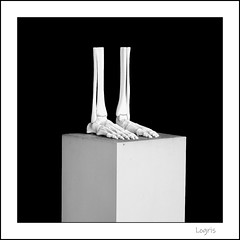 Neglected foot care (Logris) Tags: sculpture skulptur feet füsse foot skelett knochen bones bw sw