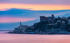 _DSC1315 - Rocca Tirrena (AlexDROP) Tags: 2018 europe genoa liguria italy bluehour twilight art travel architecture castle color cityscape city sea nikond750 afsnikkor28300mmf3556gedvr best iconic famous mustsee picturesque postcard clouds