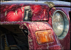 Wash Me... (angelakanner) Tags: canonsx50 red jeep dirty mud auto