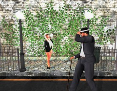 """"""" Good Morning, Ma'am """" (maka_kagesl) Tags: secondlife sl second life game gaming ground grass green games videogame virtual portrait photography photo picture pose scenery scene"""