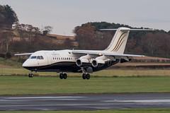 C-GSUI RJ100 North Caribou Air Prestwick 12.11.17 (Robert Banks 1) Tags: cgsui avro rj1h rj100 north caribou air prestwick egpk pik