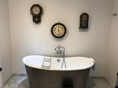 Vagabond's Metal Bath Tub with Clocks, Carmel CA (Nancy D. Brown) Tags: bathtub tub bath carmel vagabondsinn california