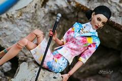 Leona in the Flower Garden (mbluedoll) Tags: mbluedoll mazarinebluedoll fashionballjointeddoll balljointeddoll bjd art artdoll artwork doll dollart highfashion fashiondoll mazarine