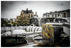 Les Halles, Paris 1989 (bobbex) Tags: analogue paris france french leshalles city 80s 1980s 1989 modernarchitecture