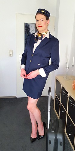Upgrade for my midnight-blue stewardess outfit