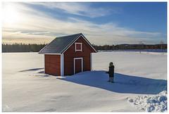 Nowhere (Dani Carmona) Tags: finland north snow house red arctic white cold landscape
