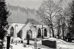 St. Lawrence church, Vantaa Finland (m.pertti) Tags: architecture history travel church monochrome blackandwhite film helsinginpitäjänkirkonkylä vantaa finland