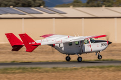 _D501137 (crispiks) Tags: albury airport new south wales bird dog 373 vhzev cessna 337g