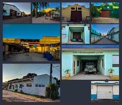 In the late 50's Virgina district was heavily industrialized, today a lot structures that were workshops and factories still remain in the area (lezumbalaberenjena) Tags: panorama panoramic cuba villas villa clara santa lezumbalaberenjena 2019 workshop taller talleres fabricas factories collage